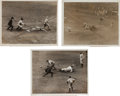 Baseball Collectibles:Photos, 1923 World Series Original News Photographs Lot of 3....