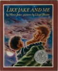 Books:Children's Books, Mavis Jukes. INSCRIBED. Like Jake and Me. Knopf, 1984.Second printing. Signed and inscribed by the author. Publ...