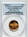 Modern Issues, 2002-W $5 Olympics, Salt Lake City Half Eagle PR69 Deep Cameo PCGS.Ex: US Vault Collection. PCGS Population (1616/221). NG...