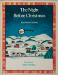 Books:Children's Books, Tomie de Paola [illustrator]. Clement Moore. INSCRIBED. The NightBefore Christmas. Holiday House, 1980. First thus. Signe...