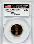 Modern Issues, 1994-W G$5 World Cup Gold Five Dollar PR69 Deep Cameo PCGS. Ex: Signature of John M. Mercanti, 12th Chief Engraver of the U...