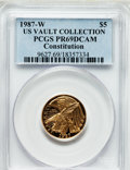 Modern Issues, 1987-W G$5 Constitution Gold Five Dollar PR69 Deep Cameo PCGS. Ex:US Vault Collection. PCGS Population (14642/1861). NGC C...