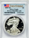 Modern Bullion Coins, 2007-W $1 Silver Eagle First Strike PR69 Deep Cameo PCGS. PCGSPopulation (5253/1851). NGC Census: (8324/7275). Numismedia...