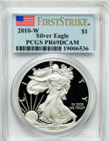 Modern Bullion Coins, 2010-W $1 Silver American Eagle, First Strike PR69 Deep MirrorProoflike PCGS. PCGS Population (4961/15469). NGC Census: (1...