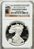 Modern Bullion Coins, 2012-S $1 Silver Eagle, San Francisco Set PR69 Ultra Cameo NGC. NGCCensus: (0/0). PCGS Population (1345/951)....