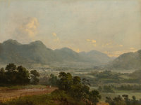 DEWITT CLINTON BOUTELLE (American, 1820-1884) Extensive Landscape with Broad Valley and Distant Mountains</