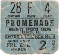 Basketball Collectibles:Others, 1962 Philadelphia Warriors Wilt Chamberlain 100 Point Game TicketStub....