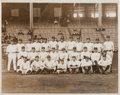 Autographs:Baseballs, 1923 New York Yankees Team Original News Photograph....