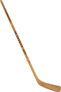 "Hockey Collectibles:Equipment, 1980 Rob McClanahan ""The Miracle on Ice"" Game Used Stick thatScored the Game Winning Goal in Gold Medal Game. ..."