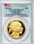 Modern Bullion Coins, 2012-W $50 One-Ounce Gold Buffalo, First Strike PR70 Deep CameoPCGS. .9999 Fine. PCGS Population (936). NGC Census: (0).. ...