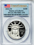 Modern Bullion Coins, 2012-W $100 One-Ounce Platinum Eagle, First Strike PR70 Deep CameoPCGS. PCGS Population (96). NGC Census: (0).. From The...