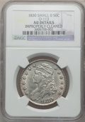Bust Half Dollars: , 1830 50C Small 0 -- Improperly Cleaned -- NGC Details. AU. O-113.NGC Census: (104/1192). PCGS Population (141/896). Mintag...