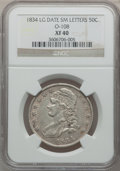 Bust Half Dollars: , 1834 50C Large Date, Small Letters XF40 NGC. O-108. PCGS Population(54/409). ...
