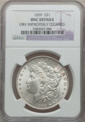 Morgan Dollars: , 1899 $1 -- Obverse Improperly Cleaned -- NGC Details. UNC. NGCCensus: (61/7516). PCGS Population (39/10061). Mintage: 330,...