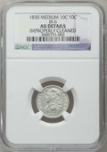 Bust Dimes, 1830 10C Medium 10C -- Improperly Cleaned -- NGC Details. AU. JR-6.NGC Census: (2/147). PCGS Population (9/142). Mintage:...