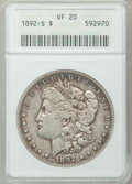 Morgan Dollars: , 1892-S $1 VF20 ANACS. NGC Census: (59/2725). PCGS Population(137/3132). Mintage: 1,200,000. Numismedia Wsl. Price for prob...