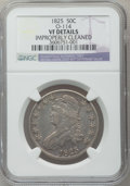 Bust Half Dollars, 1825 50C -- Improperly Cleaned -- NGC Details. VF. O-114. NGCCensus: (13/1026). PCGS Population (8/1204). Mintage: 2,900,...