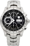 Timepieces:Wristwatch, Tag Heuer Calibre 16 Link Automatic Steel Chronograph. ...