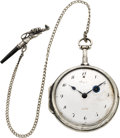 Timepieces:Pocket (pre 1900) , Breguet Paris Silver Quarter Hour Repeating Verge Fusee, circa1805. ...