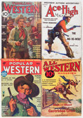 Pulps:Western, Pulp Group Western Group (Various Publishers, 1930-35) Condition: Average GD.... (Total: 12 Comic Books)
