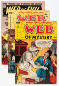 "Golden Age (1938-1955):Horror, Miscellaneous Golden Age Horror ""Web"" Comics Group (VariousPublishers, 1951-53).... (Total: 3 Comic Books)"