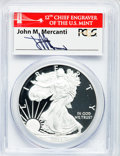 Modern Bullion Coins, 2012-S $1 Silver Eagle, Coin & Currency Set PR70 Deep CameoPCGS. Ex: Autographed By John M. Mercanti, 12th Chief Engraver ...