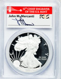 Modern Bullion Coins, 2012-S $1 One Once Silver Eagle, Coin & Currency Set PR70 DeepCameo PCGS. Ex: Signature of John M. Mercanti, 12th Chief E...
