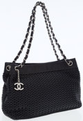 Luxury Accessories:Bags, Chanel Black Woven Caviar Leather Tote Bag with Silver Hardware....