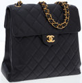 Luxury Accessories:Bags, Chanel Black Caviar Leather Reversible Flap Bag with Gold Hardware....