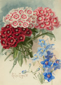 Fine Art - Painting, American:Antique  (Pre 1900), PAUL DE LONGPRE (American, 1855-1911). Spring Bouquet, 1897.Watercolor on board. 10 x 7 inches (25.4 x 17.8 cm) (sight)...