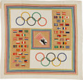 Miscellaneous Collectibles:General, 1936 Berlin Summer Olympics Silk Scarf....