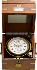 Timepieces:Other , Ulysse Nardin Two Day Marine Chronometer No. 476-72, circa 1910. ...