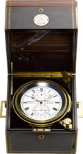 Timepieces:Other , J. Whyte & Co. Eight Day Marine Chronometer, circa 1888. ...