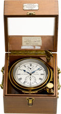 Timepieces:Other , Thomas Mercer Ltd. St. Albans England Two Day Marine Chronometer,circa 1950. ...