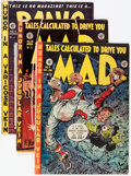 Golden Age (1938-1955):Miscellaneous, EC Comics Golden Age Satire Group (EC, 1952-55) Condition: Average GD.... (Total: 7 Comic Books)