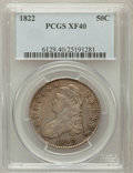 Bust Half Dollars: , 1822 50C XF40 PCGS. PCGS Population (79/578). NGC Census: (39/652).Mintage: 1,559,573. Numismedia Wsl. Price for problem f...