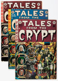 Golden Age (1938-1955):Horror, Tales From the Crypt Group (EC, 1952-55) Condition: Average GD....(Total: 8 Comic Books)