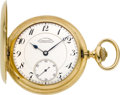 Timepieces:Pocket (post 1900), Paul Ditisheim 18k Gent's Hunters Case With Photo Cuvette. ...