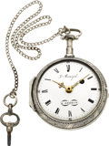 Timepieces:Pocket (pre 1900) , John Bonÿol Geneve Very Fine Silver Quarter Hour Repeater Verge Fusee, circa 1805. ...