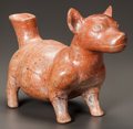 Pre-Columbian:Ceramics, A COLIMA DOG WITH SPOUTED TAIL. c. 200 BC - 200 AD. ...