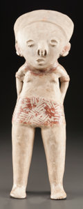 Pre-Columbian:Ceramics, A CHINESCO TALL STANDING FIGURE. c. 200 BC - 200 AD...