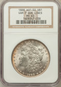 Morgan Dollars, 1888 $1 Double Die Reverse Line MS63 NGC. Vam-7, Hot-50. NGCCensus: (13287/24891). PCGS Population (13785/17443). Mintage:...