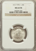 Standing Liberty Quarters: , 1917 25C Type One MS64 Full Head NGC. NGC Census: (1281/1100). PCGSPopulation (1685/1428). Mintage: 8,740,000. Numismedia ...