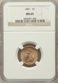Indian Cents, 1861 1C MS65 NGC....