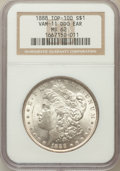 Morgan Dollars, 1888 $1 Double Die Obverse Ear MS62 NGC. Vam-11, Top-100. NGCCensus: (2345/38178). PCGS Population (2980/31228). Mintage: ...
