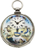 Timepieces:Pocket (pre 1900) , Swiss Fancy Dial Chinese Market Key Wind, circa 1870. ...