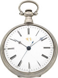 Timepieces:Pocket (pre 1900) , Swiss Ornate Chinese Market Key Wind. ...