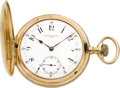 Timepieces:Pocket (post 1900), Vacheron & Constantin 50 mm 14k Gold Hunters Case, circa 1905....
