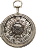 Timepieces:Pocket (pre 1900) , George Charle London Large Turkish Market Verge Fusee, circa 1815....