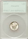 Mercury Dimes: , 1939 10C MS64 Full Bands PCGS. PCGS Population (166/757). NGCCensus: (30/196). Mintage: 67,749,320. Numismedia Wsl. Price ...